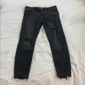 Free people black ripped jeans